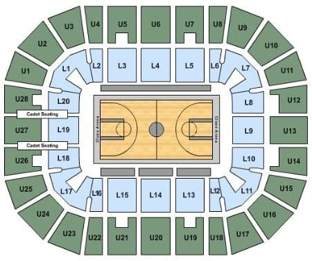 Air Force Falcons Basketball Seating Chart