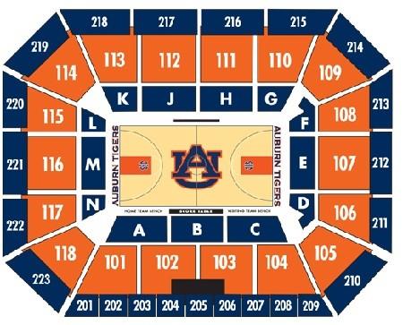 Auburn Tigers Mens Basketball Seating Chart