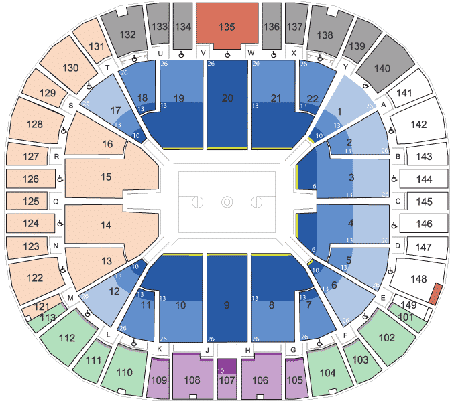 BYU Cougars Basketball seating Chart