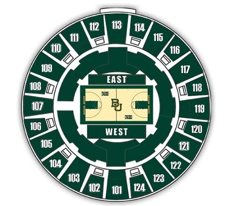 Baylor Bears Mens Basketball Seating Chart