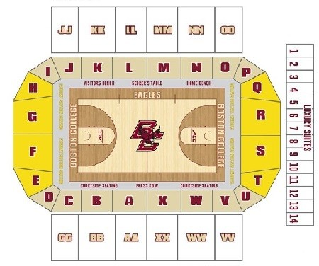 Boston College Eagles Mens Basketball Seating Chart