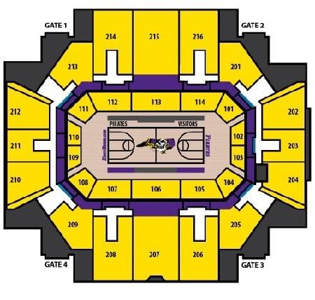 East Carolina Pirates Basketball Seating Chart