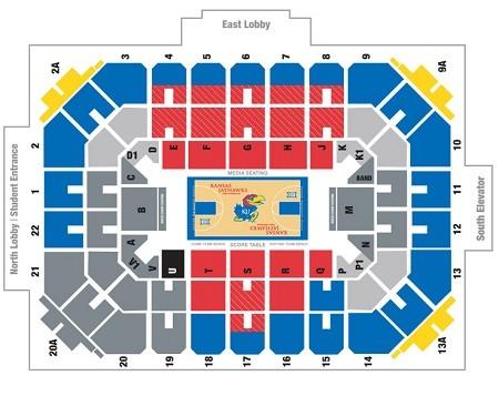 Kansas Jayhawks Men's Basketball Tickets - Choose your own seats!