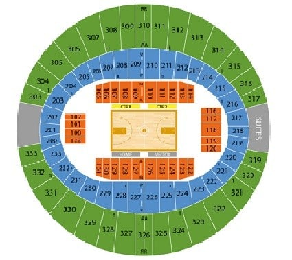 Lafayette Ragin Caguns Basketball Seating Chart