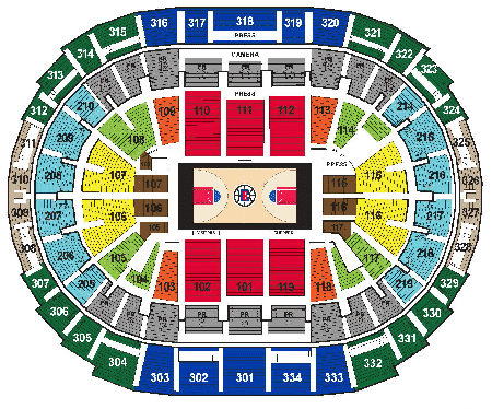 Los angeles clippers seating chart sports trips
