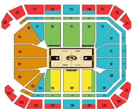 Missouri Tigers Mens Basketball Seating Chart