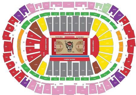 NC State Mens Basketball Seating Chart