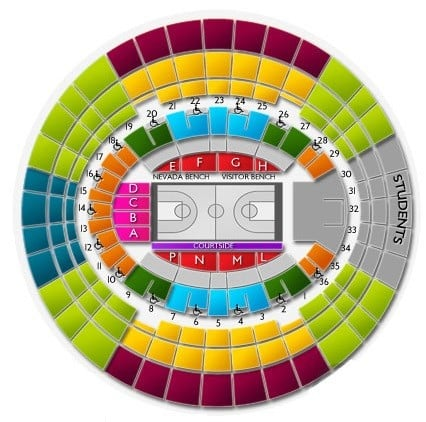 Nevada Wolf Pack Basketball Seating Chart