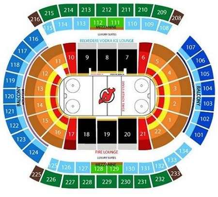New Jersey Devils Seating View