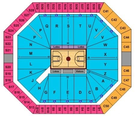 New Mexico Lobos Basketball Tickets - Choose your own seats!