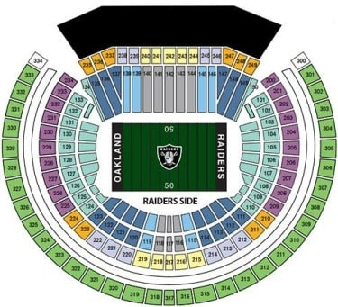 Oakland Raiders Tickets - Choose your own seats!