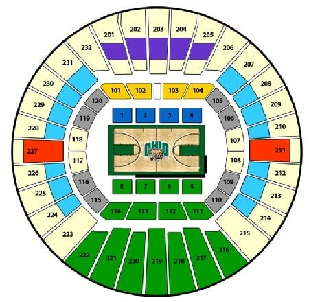 Ohio Bobcats Basketball Tickets - Choose your own seats!