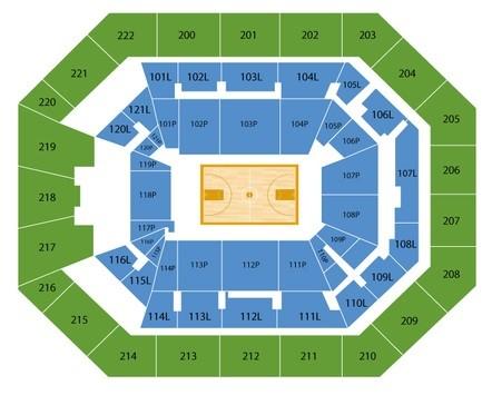 Oregon Ducks Mens Basketball Seating Chart