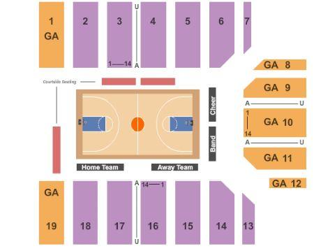 San Jose State Basketball Seating Chart