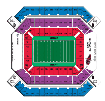 Tampa Bay Buccaneers Tickets 82 Raymond James Stadium Hotels View Deals
