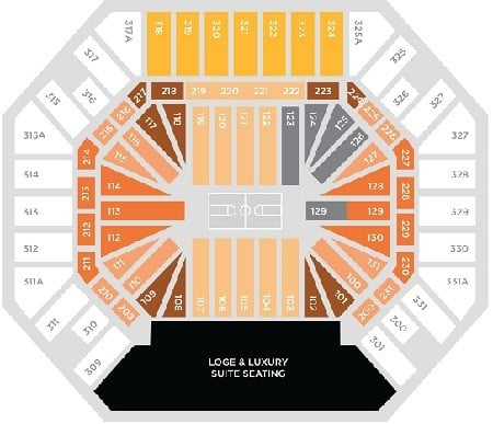 Tennessee Volunteers Mens Basketball Seating Chart
