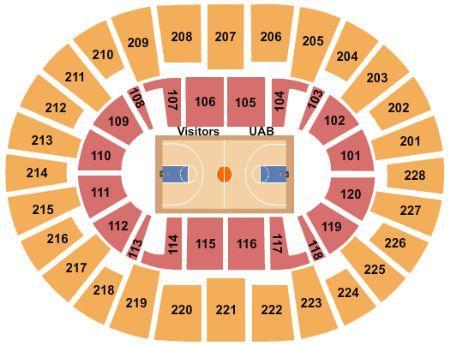 UAB Blazers Basketball Seating Chart