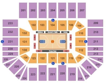 UNC Charlotte 49ers Basketball Seating Chart