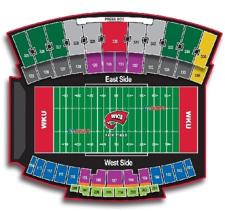WKU Hilltoppers seating chart