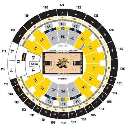Mbb Wichita State Shockers Tickets Hotels Near Charles Koch Arena