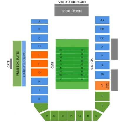 central michigan chippewas seating chart