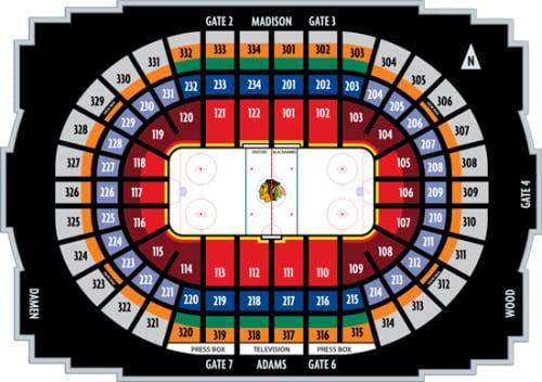 United Center Blackhawks Seating Brokeasshome Com