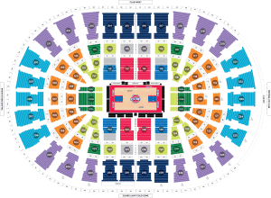 Detroit pistons seating chart sports trips