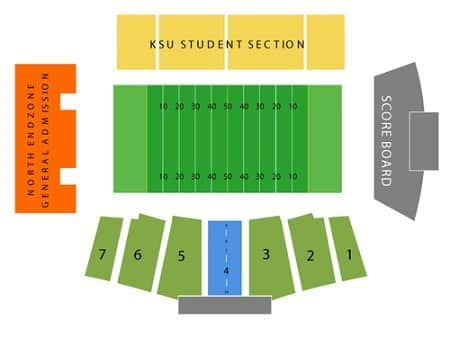 kent state golden flashers seating chart