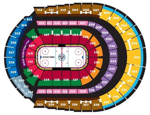 Nashville predators seating chart sports trips