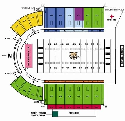 ohio bobcats seating chart