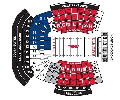 Ole miss rebels tickets travel packages hotels near stadium