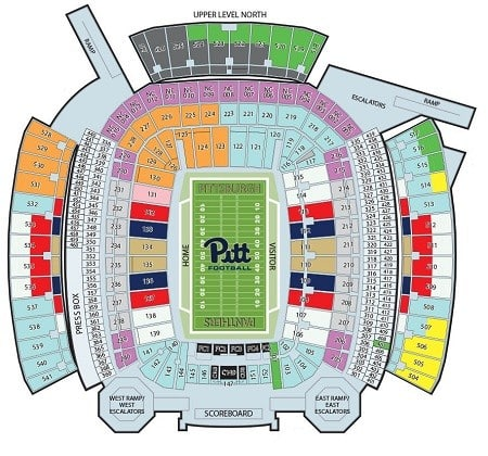 pittsburgh panthers heinz field seating chart