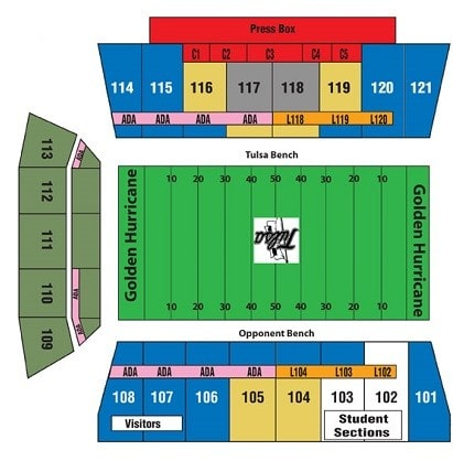 Tulsa Golden Hurricane Tickets - Choose your own seats!