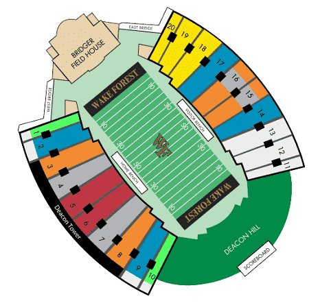 Wake Forest Demon Deacons Tickets - Choose your own seats!