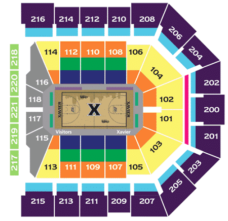 Xavier Basketball Seating Chart