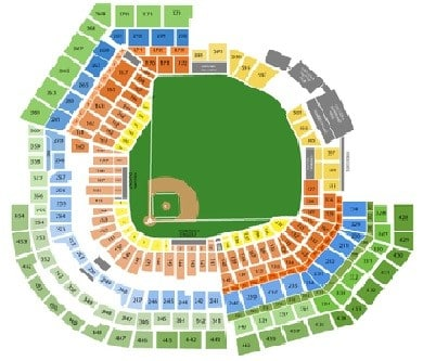 St louis cardinals seating chart sports trips