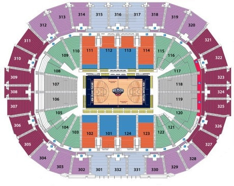 New orleans pelicans tickets hotels near smoothie king center