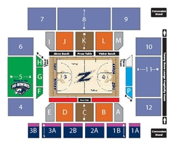 Akron Zips Basketball Tickets - Choose your own seats!