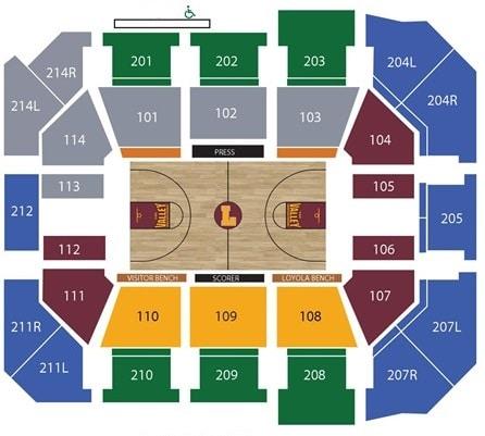 Loyola Ramblers Seating Chart