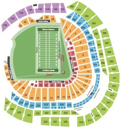 miami beach bowl seating chart