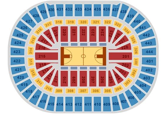 Hond Center Basketball Seating Chart