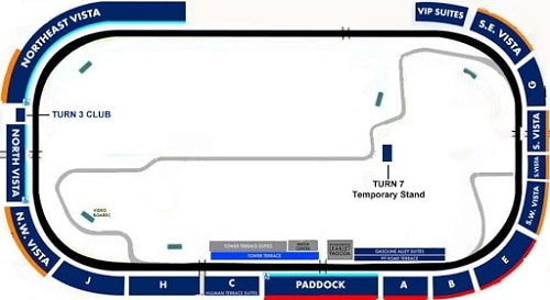 Indianapolis Motor Speedway Seating Chart
