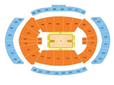 Sprint Center Basketball Seating Chart