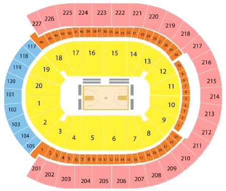 T-Mobile Arena Basketball Seating Chart