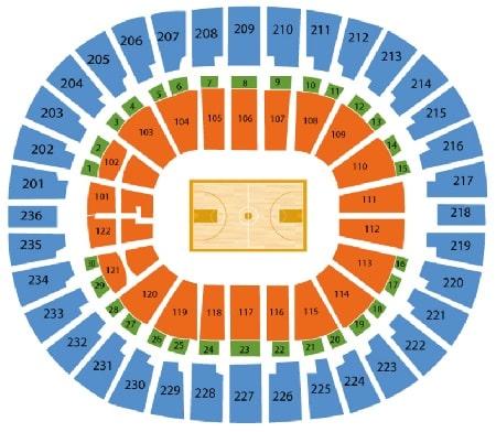 Thomas Mack Basketball seating chart