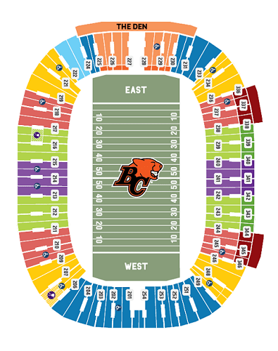 BC Lions Seating Chart