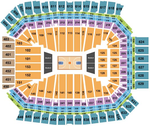 Lucas Oil Stadium Basketball Seating Chart