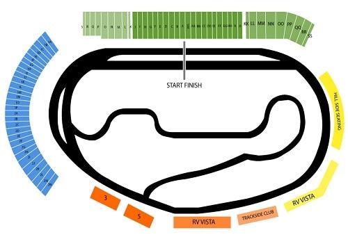 (ISM) Phoenix Raceway Seating Chart